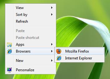 Каскадное меню в Windows 7